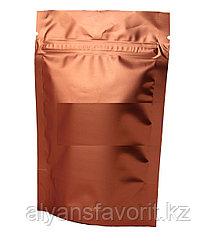 Пакет дой-пак металлизированный терракотовый матовый с замком zip-lock