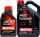 Моторное масло Motul 4100 Turbolight 10W40 4L, фото 2