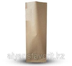 Пакет дой пак бумажный крафт с центральным швом (двухшовный)