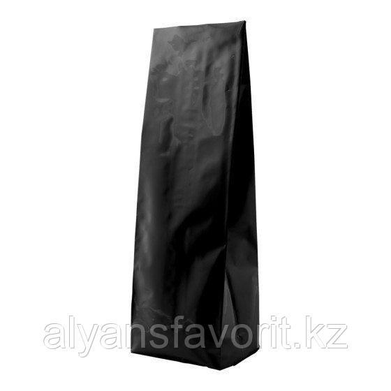 Пакет дой пак металлизированный черный матовый с центральным швом (двух шовный)