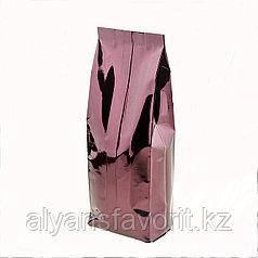 Пакет дой пак металлизированный бордовый глянцевый с центральным швом (двухшовный)