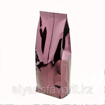 Пакет дой пак металлизированный бордовый глянцевый с центральным швом (двухшовный), фото 2