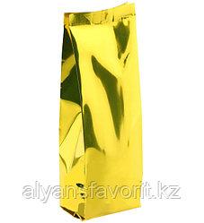 Пакет дой пак металлизированный золотой глянцевый с центральным швом (двухшовный)