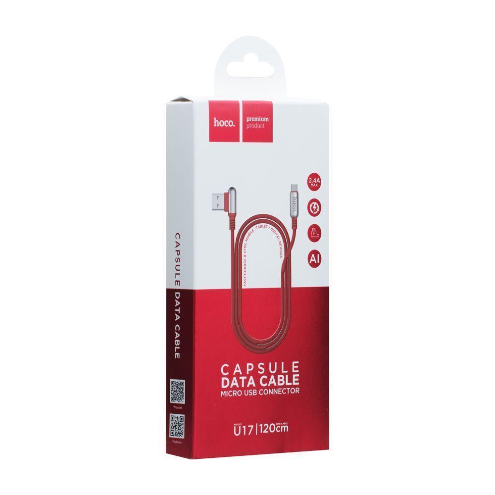 Кабель HOCO U17 Micro USB Red