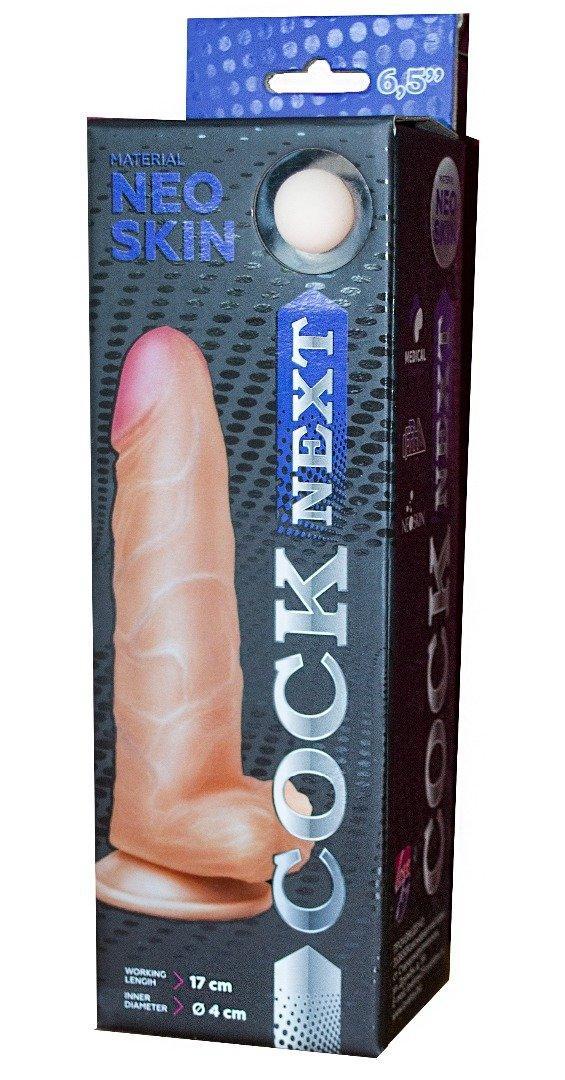 """Фаллоимитатор """"COCK NEXT"""", на присоске, L 17.0 см D 4.0 см, CYBERSKIN"""