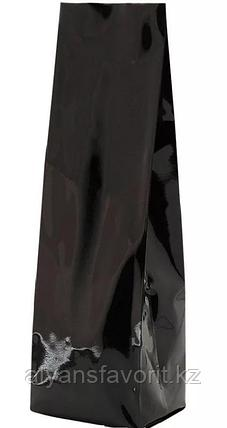 Пакет дой пак металлизированный черный глянцевый с центральным швом (двухшовный), фото 2