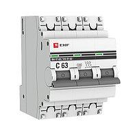 Автоматический выключатель 3P 63А (C) 4,5kA ВА 47-63 EKF PROxima, фото 1