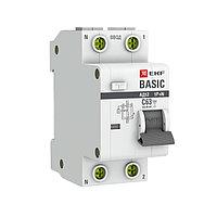 Дифференциальный автомат 1P+N 25А 30мА тип АС х-ка C эл. 4,5кА АД-12 EKF Basic, фото 1