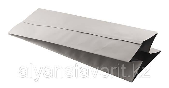 Пакет дой пак металлизированный белый матовый с центральным швом (двухшовный), фото 2