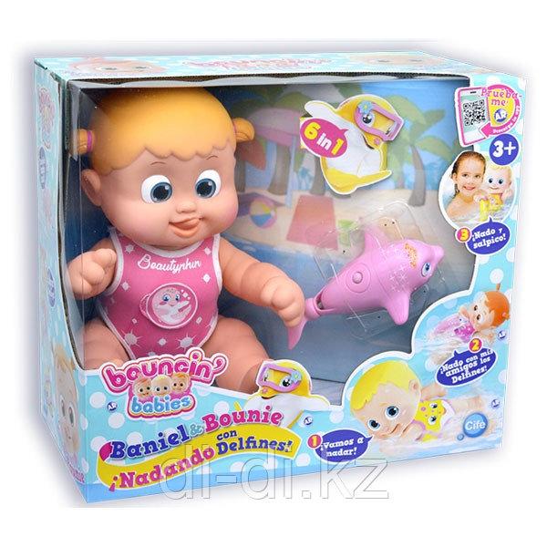 Bouncin' Babies Кукла Бони плавающая с дельфином, 35 см