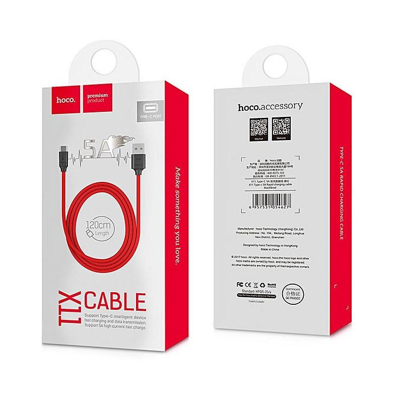 Кабель Hoco X11 Type-C USB 5A