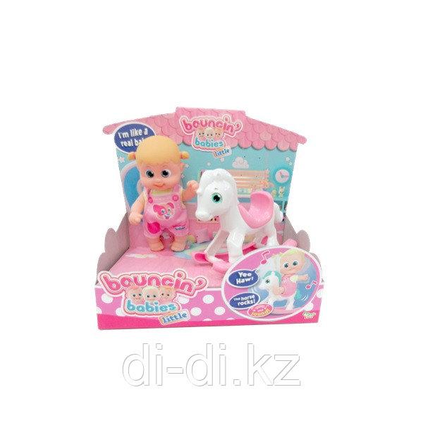 Bouncin' Babies Кукла Бони с лошадкой-качалкой, 16 см