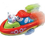 """Заводная игрушка для ванны """"Кораблик"""" -  Полярный медведь"""