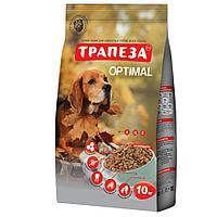 Сбалансированный Сухой корм «Трапеза» Оптималь для взрослых собак, содержащихся в городских условиях 10 кг