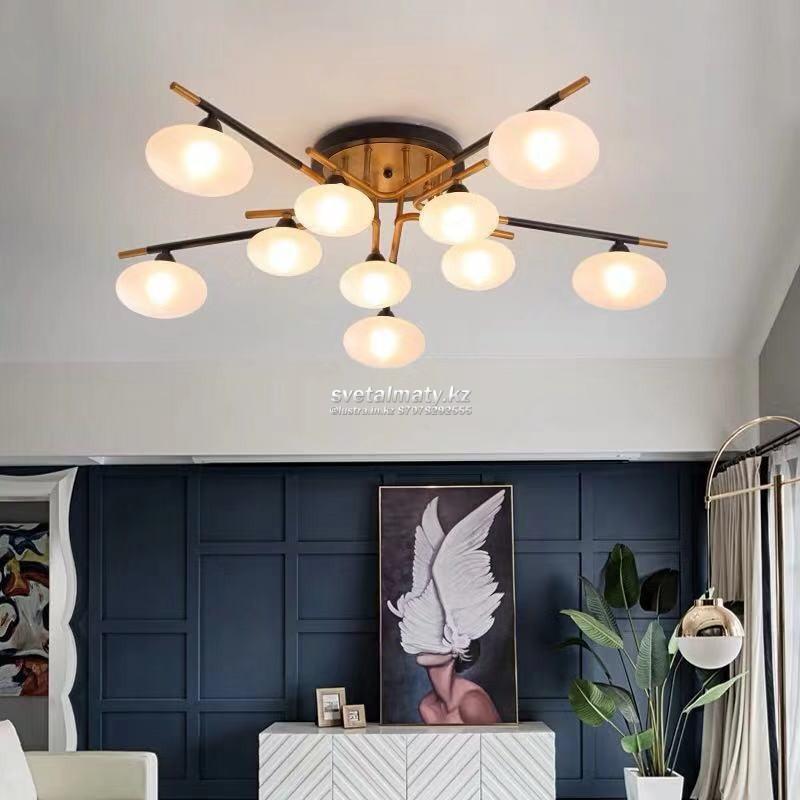 Люстра потолочная с 10-ти LED лампами в стиле Мodern (современный)