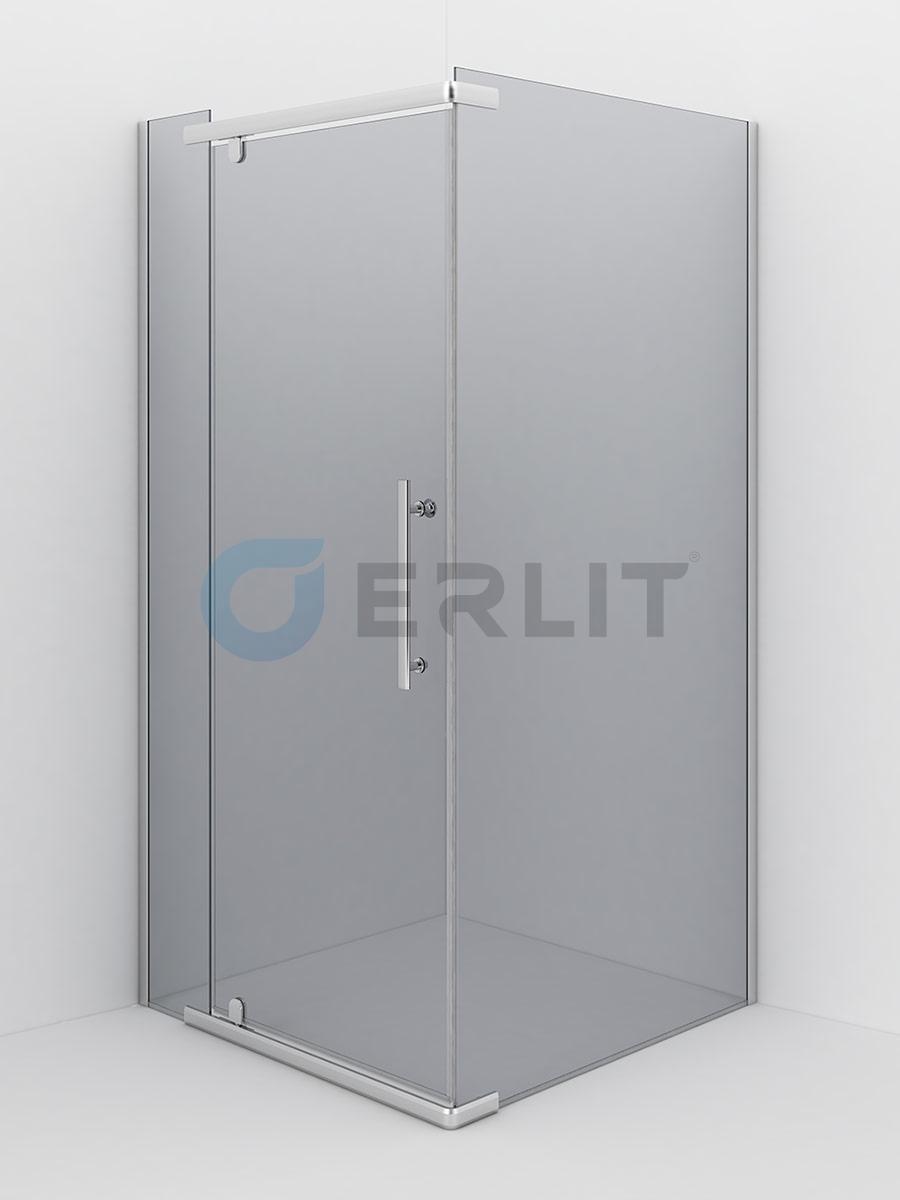Душевое ограждение - Erlit ER10109H- C4 900х900х2000 (без поддона) тонированное стекло