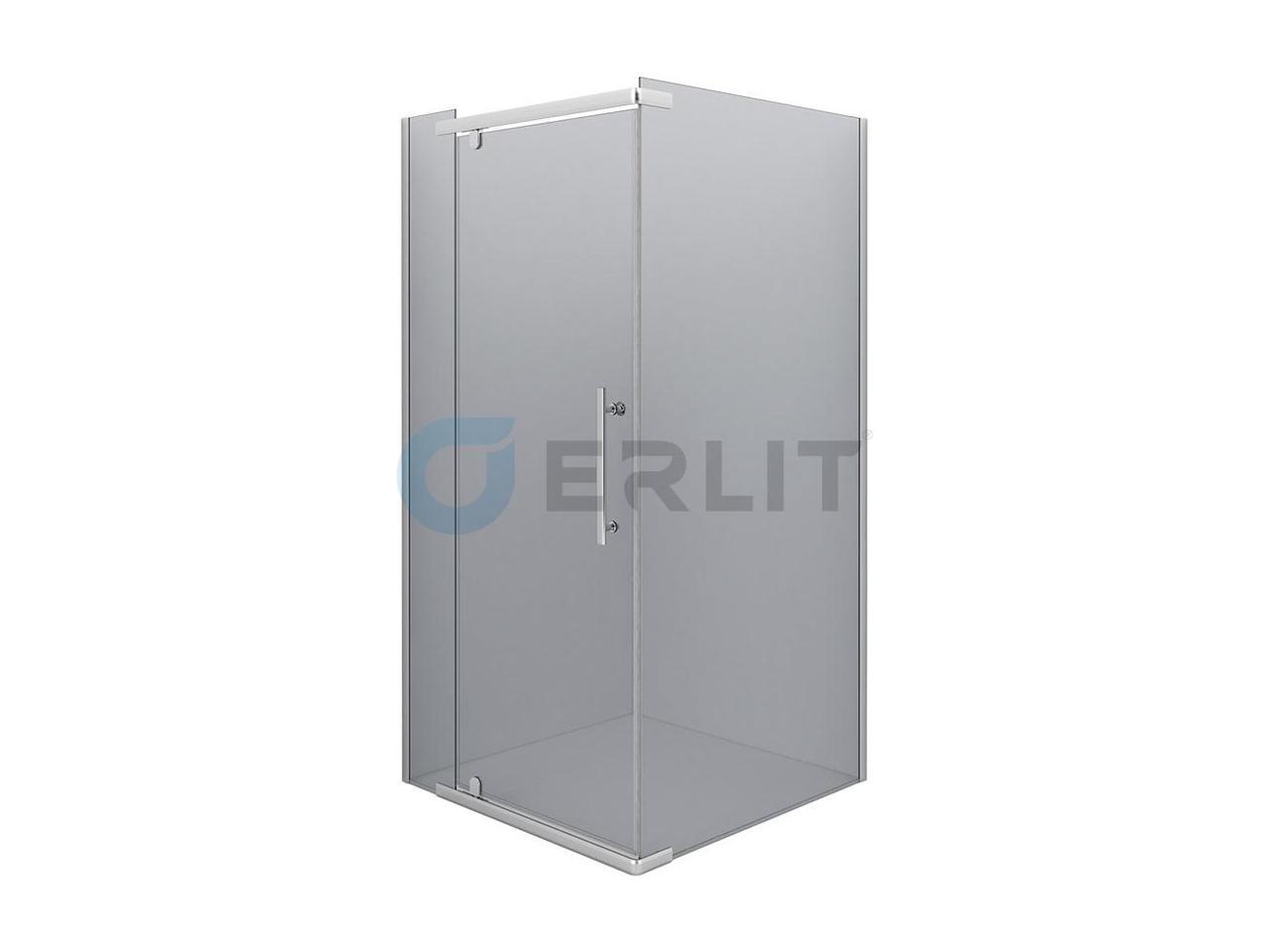 Душевое ограждение - Erlit ER10110H- C4 1000х1000х2000 (без поддона) тонированное стекло