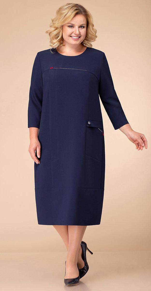 Платье Линия-Л-1741, синий, 60