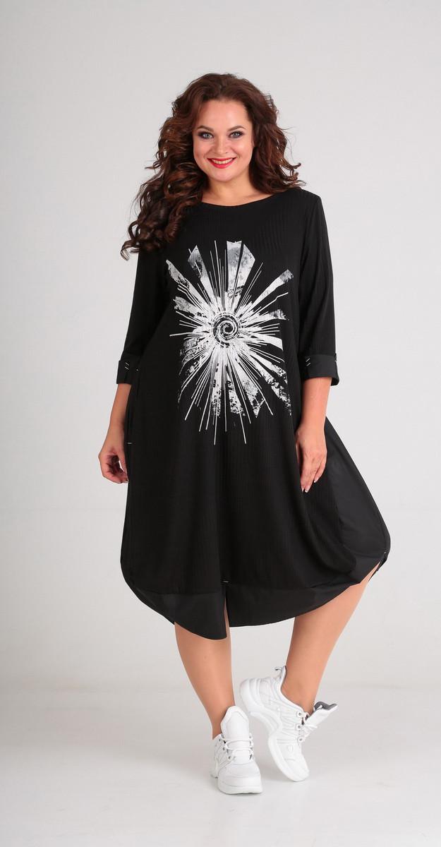Платье Andrea Style-00182, черный, 54