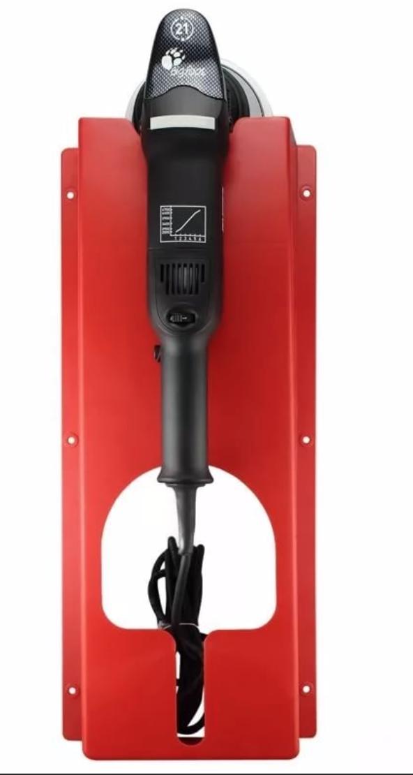 SGCB Держатель полировальных машинок, настенный, пластик, черный/красный 60*25,5*9,5см