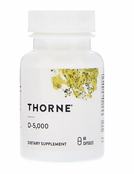 Thorne Research, D-5000, 60 капсул.