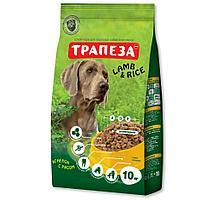 Сбалансированный Сухой корм «Трапеза» Ягненок с рисом для собак крупных пород 10 кг