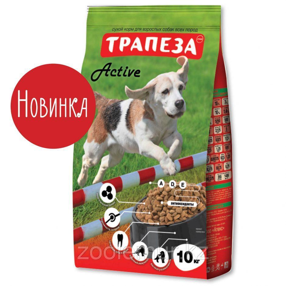 Сбалансированный Сухой корм «Трапеза» Active для собак средних пород с повышенной физической активностью 10 кг