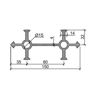 Гидрошпонка УВ-150-4/30 ПВХ-П