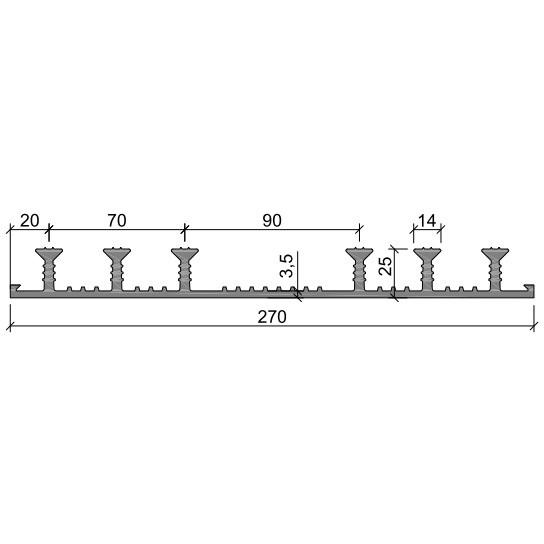 Гидрошпонка ХО-270-6/25 ПВХ-П