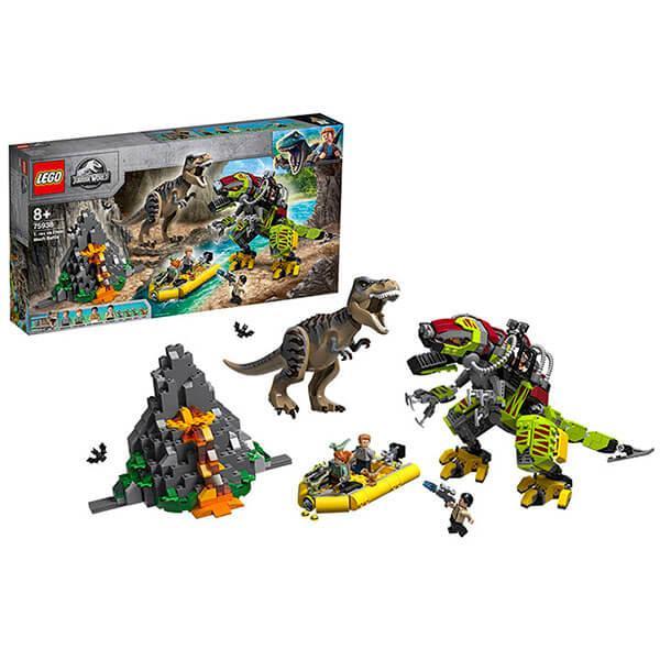 Конструктор ЛЕГО 75938 Бой тираннозавра и робота-динозавра LEGO Jurassic World
