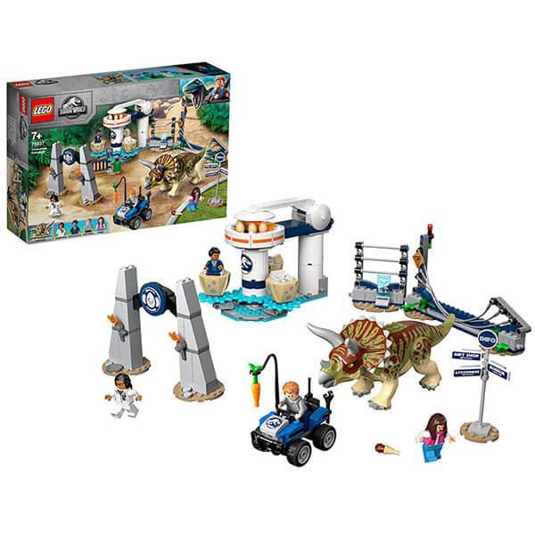 LEGO Jurassic World 75937 Конструктор ЛЕГО Нападение трицератопса