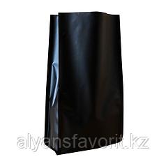 Пакет металлизированный пятишовный с пропаянными гранями черный матовый
