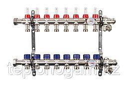 Коллектор с расходомерами Mixell из нержавеющей стали, 8 контуров