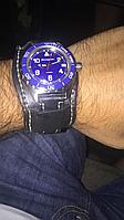 Ремешок для часов широкий кожаный
