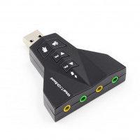 USB Звуковая карта 3D USB Sound 7.1 Black, фото 1