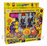 Набор фигурок растения против зомби Plants vs zombies (7 фигурек, 6 шариков для метания)