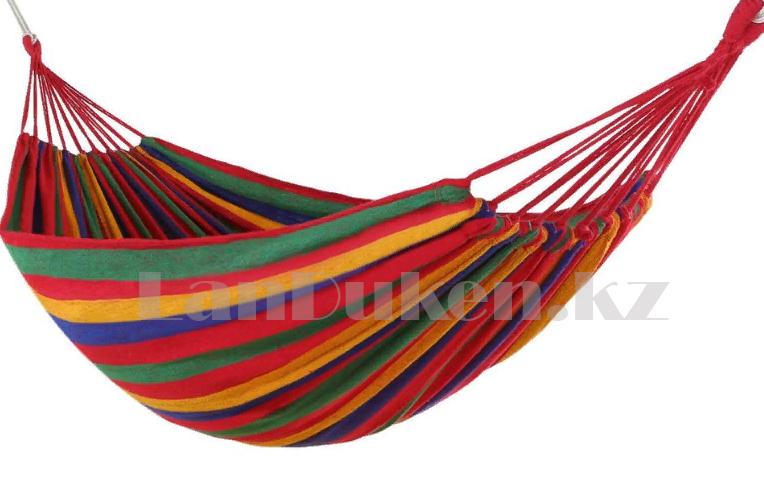 Подвесной гамак лежак складной 1.5х0.8м - фото 2
