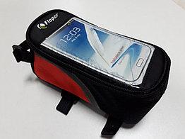 Сумка для велосипеда Flopar на раму с держателем телефона. Kaspi RED. Рассрочка.