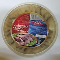 Пресервы сельдь филе кусочки в масле 160 гр.