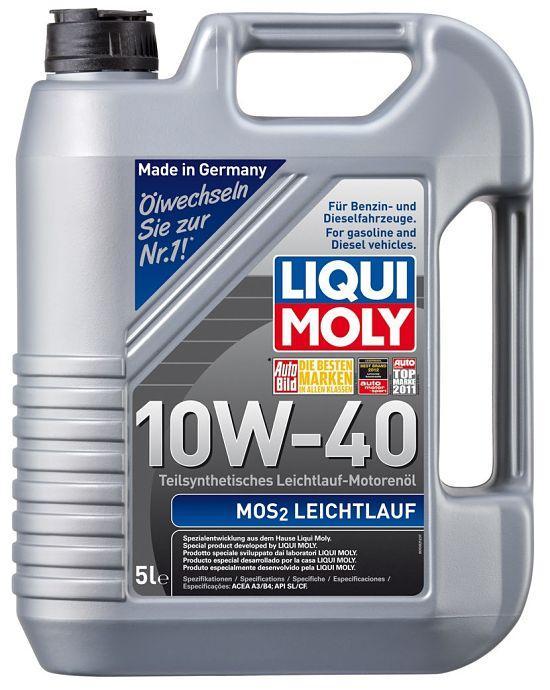 Моторное масло LIQUI MOLY MoS2 Leichtlauf 10W40 с молибденом 5L
