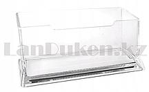 Подставка для визиток пластиковая прозрачная 10х5х5 см
