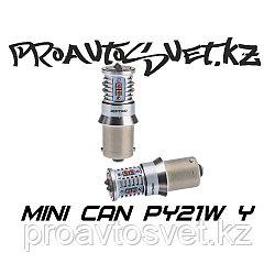 Светодиодная лампа Optima Premium MINI PY21W желтая с обманкой