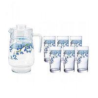 Графин со стаканами Arcopal Aliya Blue (7 предметов)