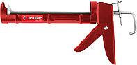 """Пистолет для герметика ЗУБР """"МАСТЕР"""" 06621, полукорпусной, гладкий шток, 310мл, фото 1"""