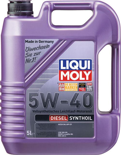Моторное масло LIQUI MOLY Diesel Synthoil 5W40 5L