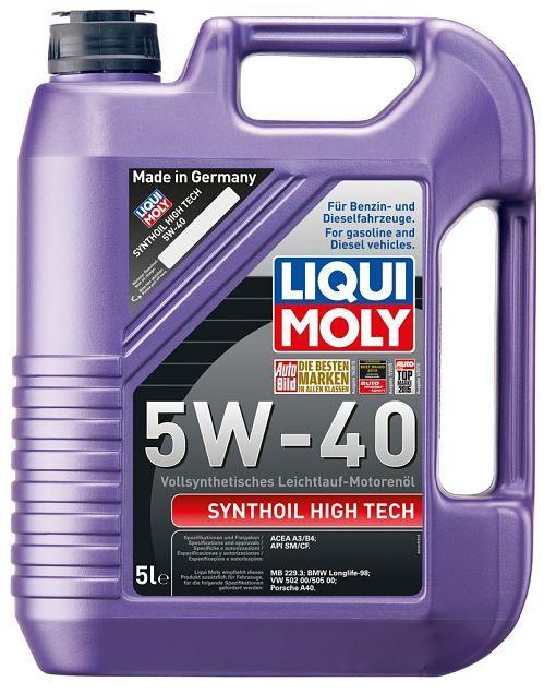 Моторное масло LIQUI MOLY Synthoil High Tech 5W40 5L