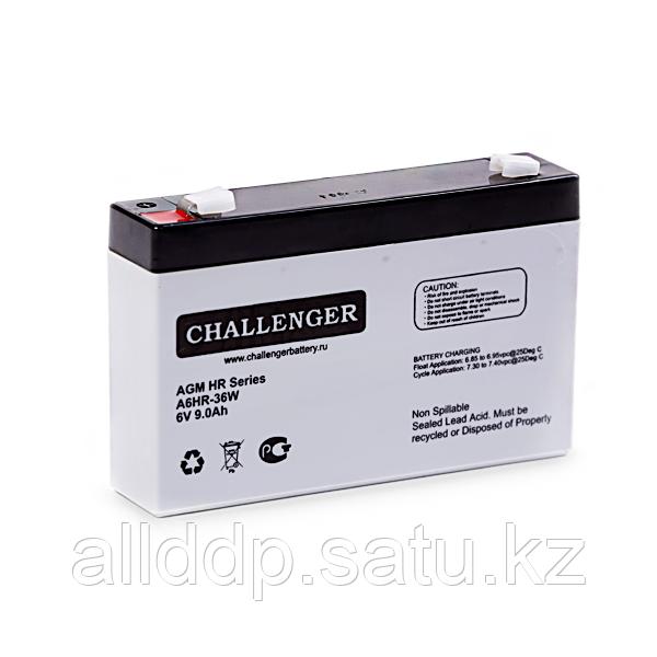 Аккумуляторная батарея Challenger А12HR-36W 12В, 9А/ч, AGM