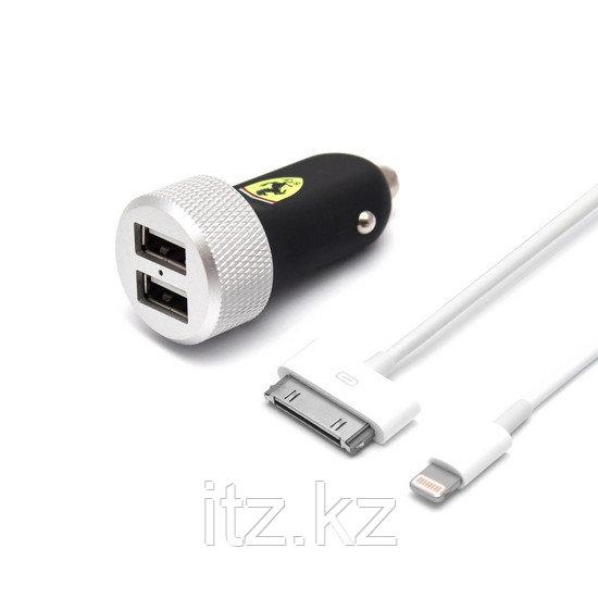 Универсальное USB зарядное устройство Ferrari FERUCC2UAPBL