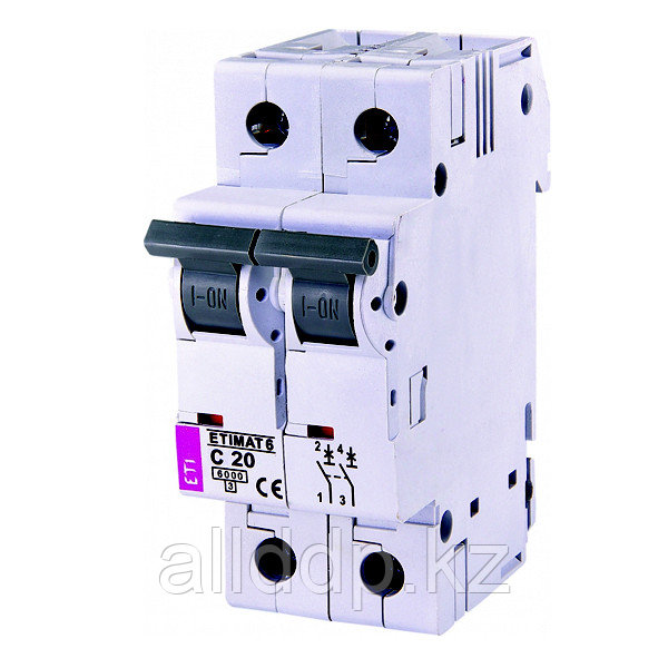 Автоматический выключатель ETIMAT 6 2p C20