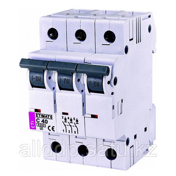 Автоматический выключатель ETIMAT 6 3p C40